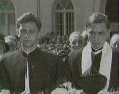 Joseph Ratzinger left, and His Brother Georg.