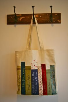 Harry Potter bag with applique classic books by DeereyMe on Etsy, £25.00