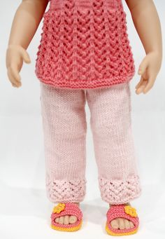 Ravelry: cataddict's goodnight, sleep tight FREEBIE top and pants patterns Knitting Dolls Clothes, Crochet Doll Clothes, Girl Doll Clothes, Girl Dolls, Ag Dolls, American Girl Crochet, My American Girl Doll, American Doll Clothes, Knitted Dolls Pants Pattern