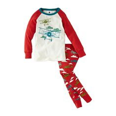 Flugzeug Pajamas - Tomato by Tea Collection – Pacifier.me.com~ Love Tea!