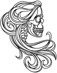 Skull. Colouring in.