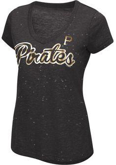 Pittsburgh Pirates Womens Black Breakaway T-Shirt