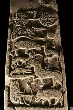 The Drosten Stone In the small village of St Vigeans, near Arbroath, Scotland, stands one of the rarest stones in the history of the Celts. Carved from red sandstone by the Picts in the 9th century.