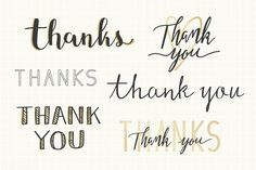 Thanks handwritten typography set Free V. Thank You Typography, Handwritten Typography, Drawing Letters, Vector Photo, Modern Calligraphy, Handwriting, Your Cards, Thank You Cards, Thankful