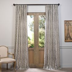EFF Santiago Printed Cotton Curtain Panel | Overstock.com Shopping - The Best Deals on Curtains