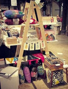 #colour #feltpennants #flashcards & fun Our Sydney pop up shop at the Finders Keepers market.