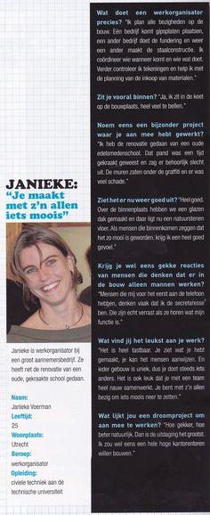 Janieke Voerman werkorganisator.