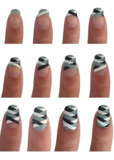 Fishtail Nail Art Style Tutorial #nails