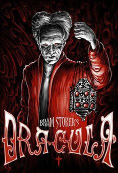 Best Horror Movies, Classic Horror Movies, Horror Movie Posters, Movie Poster Art, Scary Movies, Frankenstein, Comics Vintage, Coppola, Bram Stoker's Dracula