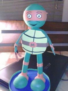 Miguel Angel Tortuga Ninja parte de la coleccion de las tortugas ninjas de Creaciones Olguita