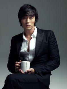 So Ji Sub and coffee
