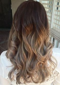 Ash Blonde hair looks Ombre with Earthy Tone