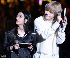 Why i ship the couple? Bts Taehyung, Bts Bangtan Boy, Bts Girlfriends, Kpop Couples, Blackpink And Bts, Blackpink Jisoo, Bts Fans, Brain Teasers, Best Couple