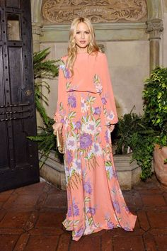 Rachel Zoe wears DVF SS17 to a dinner celebrating DVF Chief Creative Officer Jonathan Saunders in Los Angeles.
