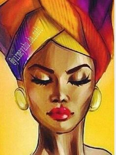 """ideas black art painting afro for 2019 """" – syllabus Black Art Painting, Black Artwork, Woman Painting, Afro Painting, Lion Painting, Painting People, Drawing People, Artist Painting, Watercolor Painting"""