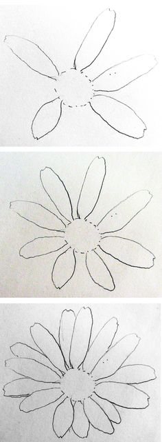 Beginner Drawing Lesson #1 - Daisies | by Celeste McCall @ ARTchat - Porcelain Art Plus (formerly Chatty Teachers & Artists)
