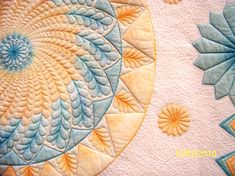 HAND DYE-MQ- nonnie's quilting dreams blog- some great examples of machine quilting.