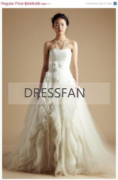 ON SALE 2013 new/strapless/organza/large by Dressfan on Etsy, $531.05