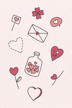 valentine dibujos doodles doodle amor valentines drawings drawing easy simple drawn liebes premium kawaii rawpixel bullet erstklassigen laden gezeichneten vektor
