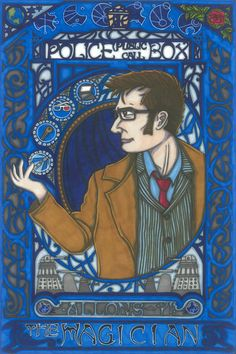 CULT TV Tarot Doctor Who postcard PRINT by MaiafirePrints on Etsy, £1.89