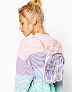 Image 3 ofUNIF Trixie Perspex Backpack with Faux Fur Heart