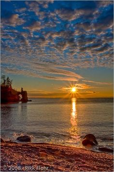 "North Shore, Lake Superior, Minnesota, ""Sunrise atTettegouche Arch"" ~ Rick Flohr"