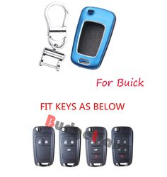 ABS Shell Cover Skin Holder for BUICK LaCrosse Regal Verano Remote Key Fob Case #Budgettank