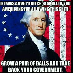 George is gunna bitch slap everyone. you roll GW American Pride, American History, Thing 1, Dont Tread On Me, Conservative Politics, God Bless America, Founding Fathers, Before Us, Way Of Life