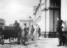 ROYAL RUSSIA: News, Videos & Photographs About the Romanov Dynasty, Monarchy and Imperial Russia Emperor Nicholas II and Empress Alexandra Feodorovna arriving at the Strastnoi Convent