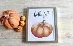 Hello Fall Sign Rustic Fall Home Decor Fall Decor by RosaLilla