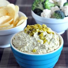 Next time a salty craving strikes, whip up some vegan Dill Pickle Dip!