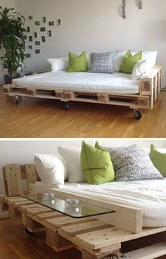 Palette recycling furniture pallet sofa side table practical Tropical Home Decor Article Body: Thank Palette Furniture, Diy Furniture Couch, Diy Sofa, Diy Pallet Furniture, Diy Pallet Projects, Recycled Furniture, Shabby Chic Furniture, Furniture Design, Furniture Stores