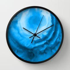 #wallclock #blue #tiedye #society6 #homedecor