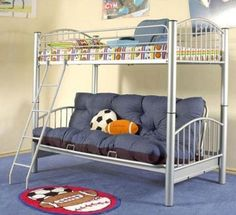 Bunk Beds with Sofa Underneath - Make bed time more fun! Toddlerbunkbeds.net