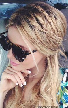Layer French Braid Bands to get this Boho Braid look.