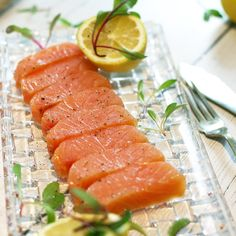 This exquisite type of salmon is the perfect indulgence for Christmas. Buy Salmon, Salmon Roe, Seafood Platter, Homemade Pie Crusts, Smoked Salmon, Base Foods, Sashimi, Yum Yum, Foodies