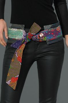 I love the firmness the quilting adds. Ubushi belt by Desigual.   patchwork and denim