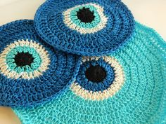 Excited to share the latest addition to my #etsy shop: Crochet coaster set,tea set,crochet coasters,greek eye coaster,bad eye coaster,traditional,table set,souver https://etsy.me/2xkDxrw #housewares #coaster #anniversary #fathersday #coasterset #teaset #crochetcoasters