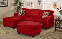 Sweet red couch!