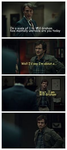On a scale of one to #WillGraham... #Hannibal