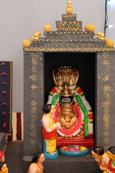 My golu showcases traditional clay dolls and a typical South Indian village with handmade temple by me and a typical city in US. Bead Embroidery Jewelry, Beaded Embroidery, Diy Golu Dolls, Ganpati Bappa Wallpapers, Ganapati Decoration, Anime Girl Pink, Wedding Doll, Cardboard Art, God Pictures
