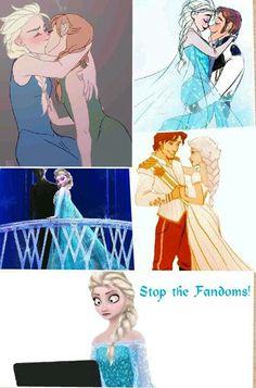 I agree with Elsa! (And besides, Elsanna is really gross. Who sta… I agree with Elsa! (And besides, Elsanna is really gross. Who started that anyway? I'd ship Helsa before i'd ship Elsanna! And i hate Helsa! Walt Disney, Cute Disney, Disney Frozen, Disney Princess Art, Disney Art, Disney Movies, Disney Characters, Disney Animation, Animation Film