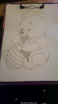 Winnie pooh – Winnie pooh – The post Winnie Pooh – appeared first on Frisuren Tips - People Drawing Cool Art Drawings, Pencil Art Drawings, Art Drawings Sketches, Easy Drawings, Animal Drawings, Simple Disney Drawings, Couple Drawings, Doodle Art, Pooh Winnie