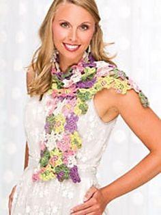 Women Flower attached Plain  double pattern design Lovely unique design Scarf