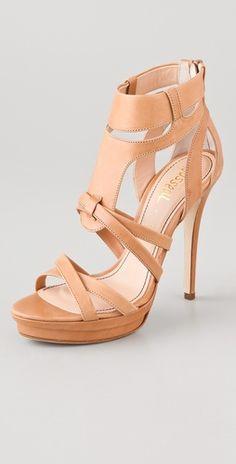 17d8fbe29cb6 Jerome C. Rousseau Hanzo Zip Back Sandals Shoes Heels Boots