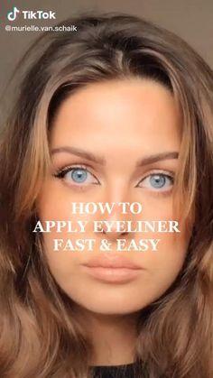 Simple Eyeliner, How To Apply Eyeliner, Simple Makeup, Applying Eyeliner, Gel Eyeliner, Pencil Eyeliner, Eyeliner For Beginners, Makeup Tutorial For Beginners, Make Up Tutorial