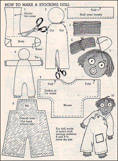 1000 Images About Golliwog Patterns On Pinterest Dolls
