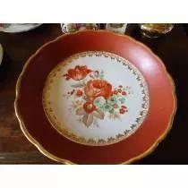 Prato De Porcelana Antigo Com Flores  ( D. PEDRO II )