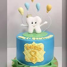 Resultado de imagem para festa primeiro dentinho Dental Cake, Tooth Cake, First Tooth, Fondant, Ideas Para Fiestas, Baby Photos, Teeth, Birthday Cake, Desserts