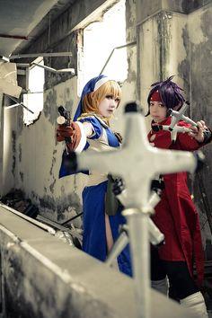 Chrono and Rosette from Chrono Crusade